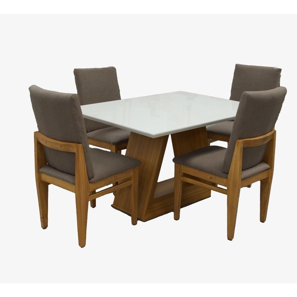 Set de comedor park rectangular 4 sillas olivas 21 319 for Set sillas comedor
